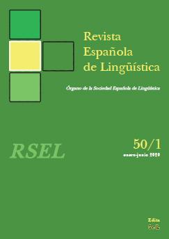 Portada RSEL 50/1 (enero-junio 2020)
